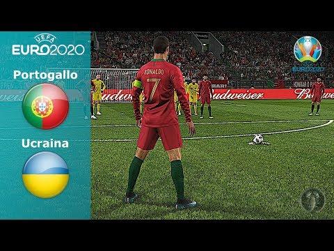 """Portogallo Vs Ucraina • Euro 2020 """"CR7 infallibile su Punizione"""" • PES 2019 Patch [Giù]"""