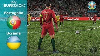 "Portogallo Vs Ucraina • Euro 2020 ""CR7 infallibile su Punizione"" • PES 2019 Patch [Giù]"