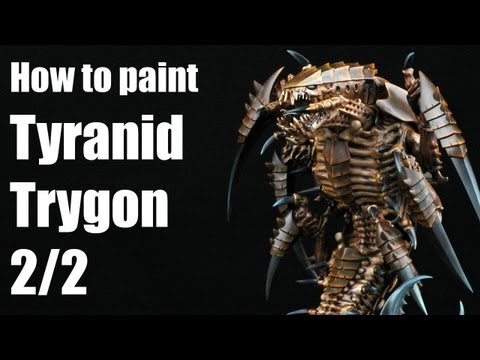 How to paint a Tyranid Trygon? Warhammer 40k Airbrush tutorial 2/2