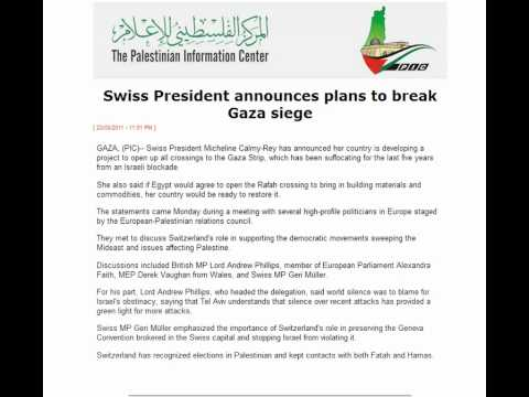 Switzerland promises to rebuild Gaza and break the siege with Egypt's cooperation