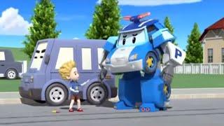 Робокар Поли - Правила дорожного движения - Не бегай между машинами