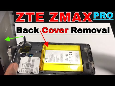 How To Remove The ZTE ZMAX PRO Back Cover | ZTE ZMAX PRO | Get Fixed