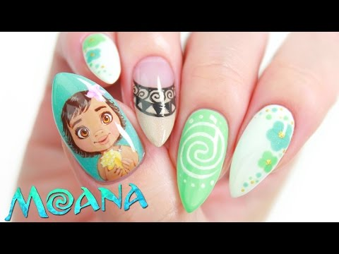 Disney's Moana Nail Art Design Tutorial
