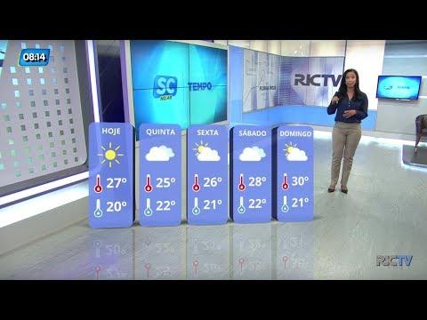 Previsão do tempo para quarta-feira, 27 de dezembro em Santa Catarina