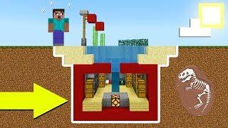 Minecraft Tutorial: How To Make A Hidden Secret Underwater house In 5 Minutes! 2019 Tutorial