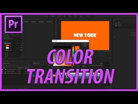 How to Create a Color Text Transition in Adobe Premiere Pro