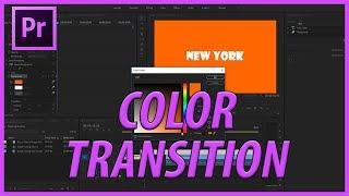 Adobe Premiere Pro CC Renk Metin Geçiş Oluşturma (2018)
