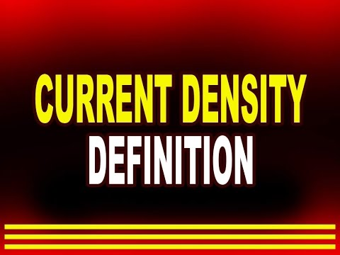 Current Density - Definition | Physics4students