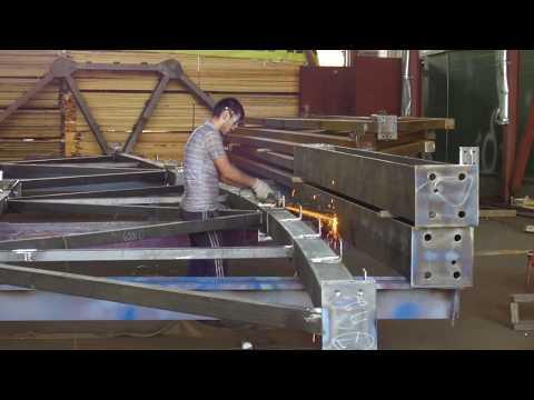 Производство металлоконструкций. Технология изготовления и монтажа металлокаркаса. Завод КМ.