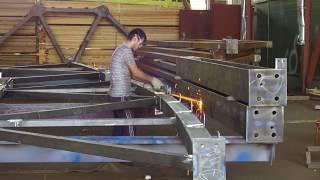 видео изготовление металлоконструкция