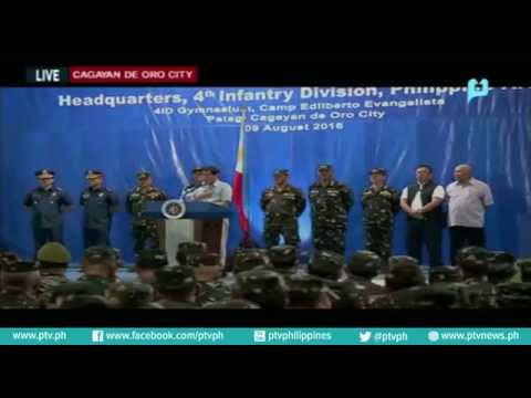 Pagbisita ni Pres. Rody Dutete sa 4th Infantry Division HQ, Camp Evangelista, Cagayan de Oro City