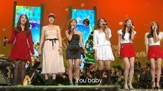 TVPP Davichi All I want for Christmas is you w IU Lyn Im Jeonghee 다비치 캐럴 Beautiful Concert