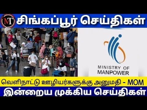 Singapore Tamil News | Singapore Workers | International Flights News Update | India To Singapore