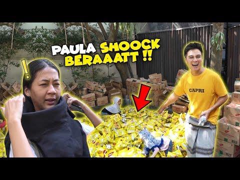 INILAAH REAKSI IBU HAMIL NGELIAT KOLAM PENUH WAFER !!!!