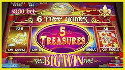🔥BIG WIN on 5 TREASURES FREE GAMES🌳TREE OF WEALTH, SHO HU SHEN🦁