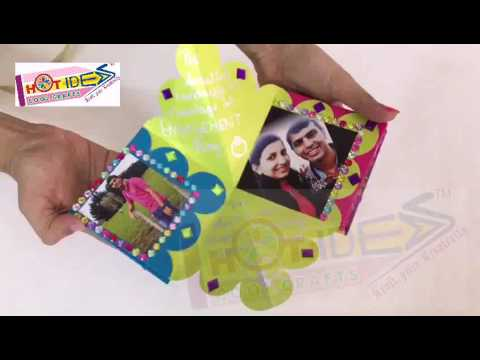 Hot-Ideas GenX - Diamond Flower Gift Card - Friend cum Fiance Wishes