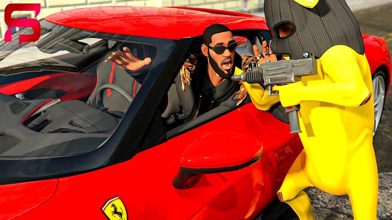 LEBRON JAMES GETS CAR JACKED in his FERRARI.... Fortnite