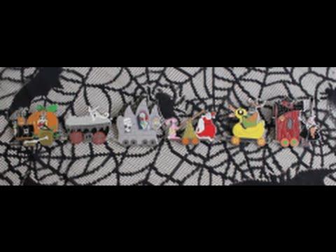 Nightmare Before Christmas Halloween Train Disney Pin Set! - YouTube
