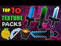 TOP 10 MINECRAFT PVP TEXTURE PACKS! (NO LAG! 1.8 1.9 1.7)