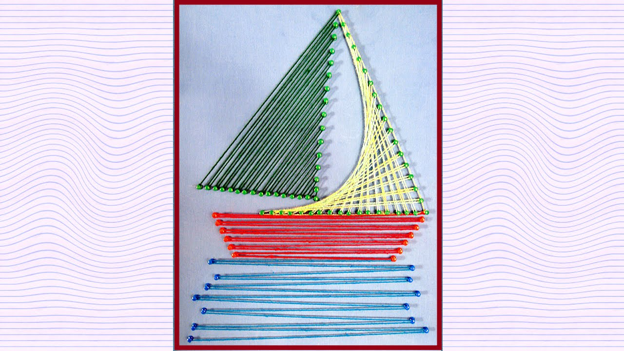 string art designs string art boat making by sonia goyal youtube
