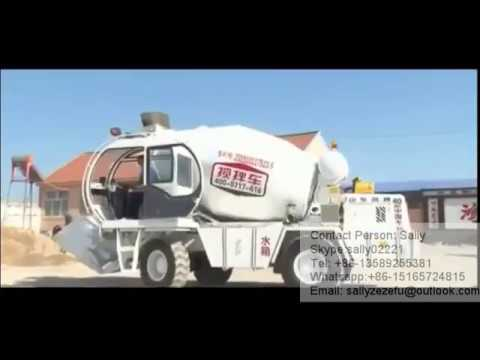 Self Loading Mobile Concrete Mixer Truck