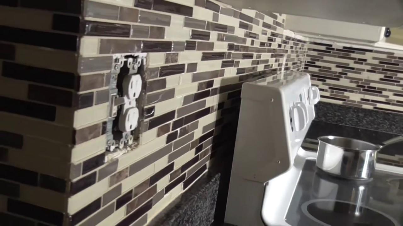 DIY How to Grout BackSplash Glass Tile-Mosaic Pattern ...