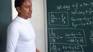 Derivadas de funciones implícitas 1