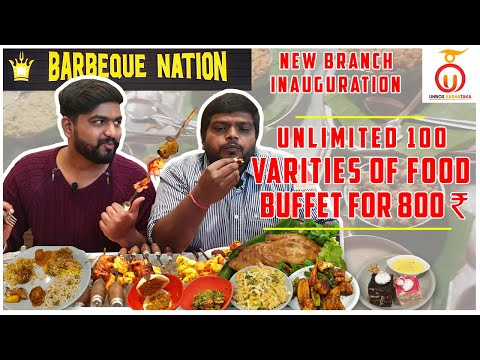 Barbeque Nation   Unlimited Buffet For Rs 800 In Bengaluru   Kannada Food Review   Unbox Karnataka