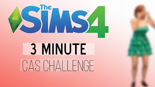The Sims 4: 3 Minute Create-A-Sim Challenge! | SoleilTech