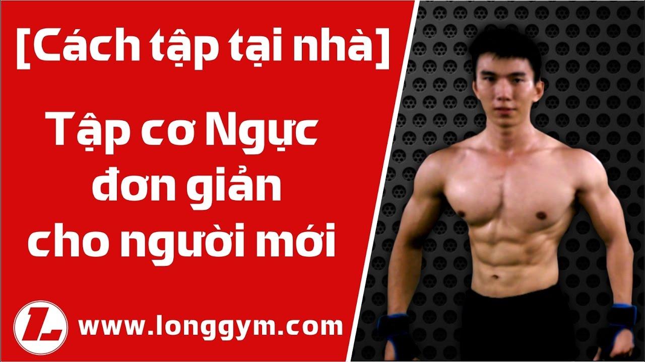 [Cách tập tại NHÀ] tập cơ Ngực căn bản cho người mới [Gym at Home] Chest exercise for beginners.