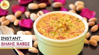Instant Shahi Rabdi  (In 10 minutes) | Kesari Rabdi | Milk Based Recipe | Holi Special Dessert