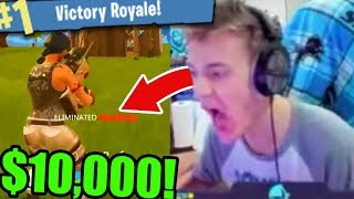 BEATING NINJA FORTNITE TOURNAMENT! ($10,000 Keemstar Fortnite Tournament SoaR Thief vs Ninja)