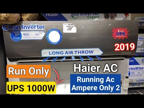 Haier dc inverter ac on low power 1000 Watt UPS new latest model - Only 2 ampere 1.5 ton ac