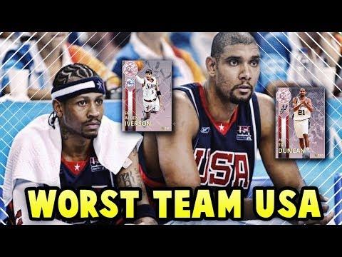 NBA 2K18 2004 OLYMPICS TEAM USA SQUAD!! *WORST TEAM USA EVER* | NBA 2K18 MyTEAM SQUAD BUILDER