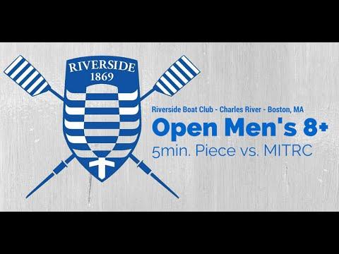 Riverside Boat Club Open Men's 8+ 5min Piece vs. MITRC (Coxswain Recording)