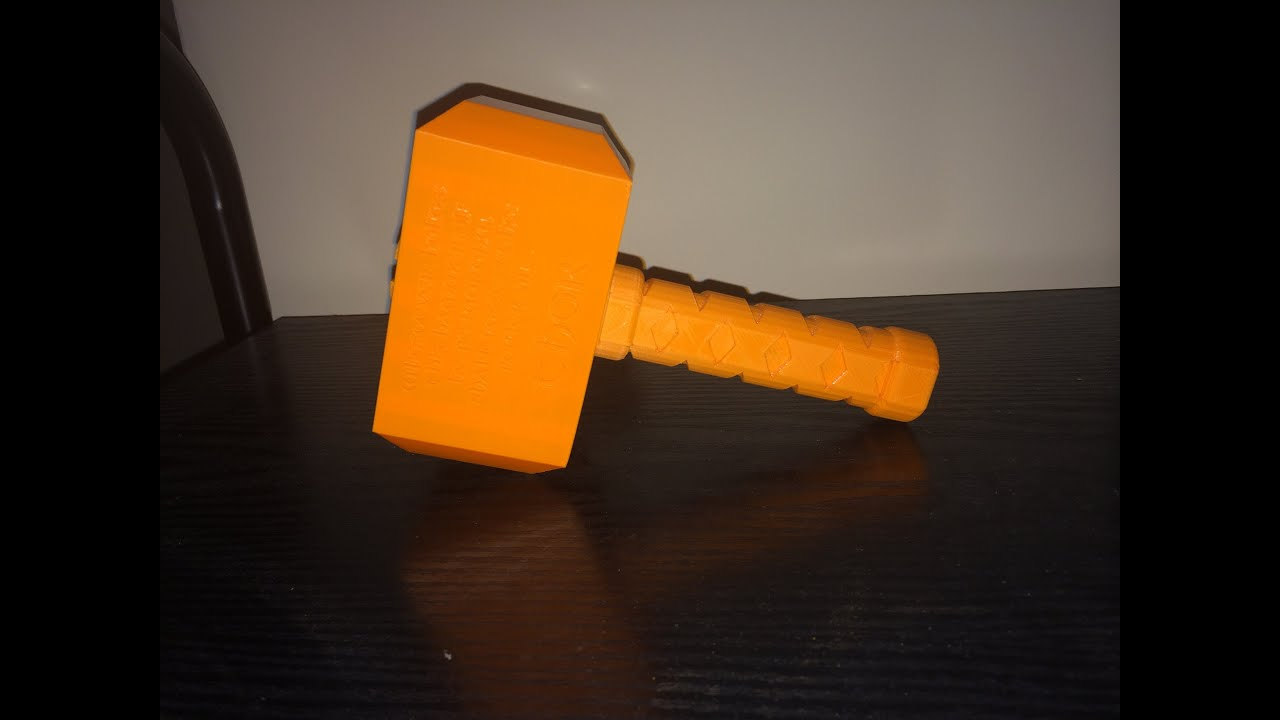 3d printing thor 39 s hammer with an ultimaker youtube