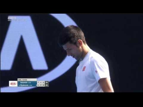 Djokovic vs Istomin, Chair umpire calling IN against Nole