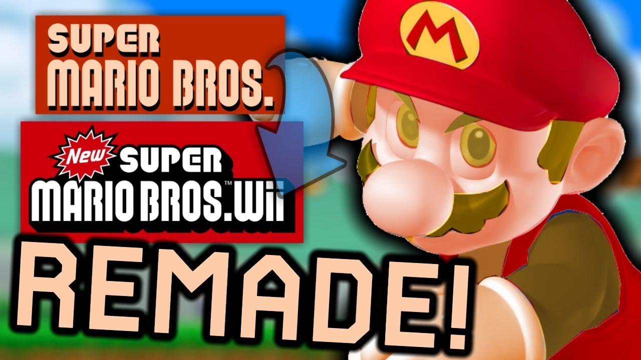 Super Mario Bros REMADE in New Super Mario Bros  Wii!   Newer Super Mario  All-Stars Revived #1