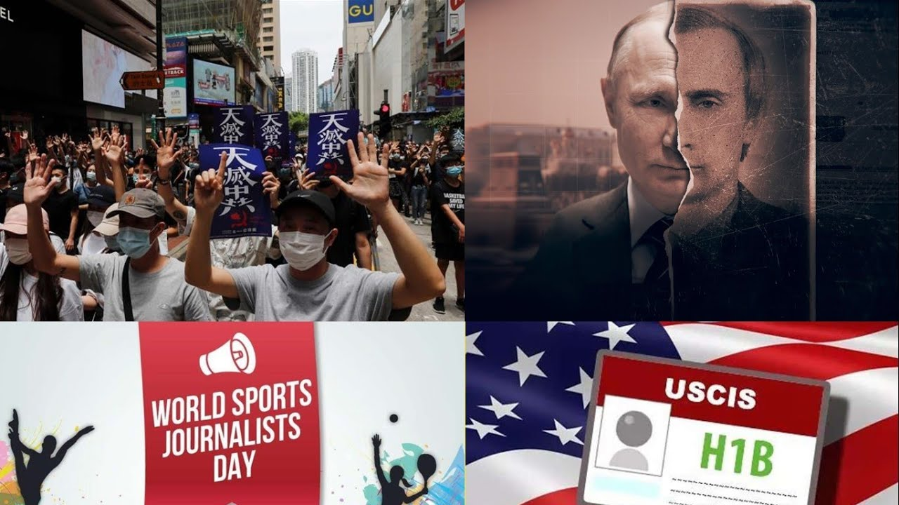 Vladimir Putin | China - Hong Kong | H1B & Work Visas | MyGov. AI Award | Sports Journalist Day