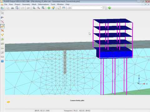 Plaxis Tutorial - Dynamic analysis of pile driving close to an existing building