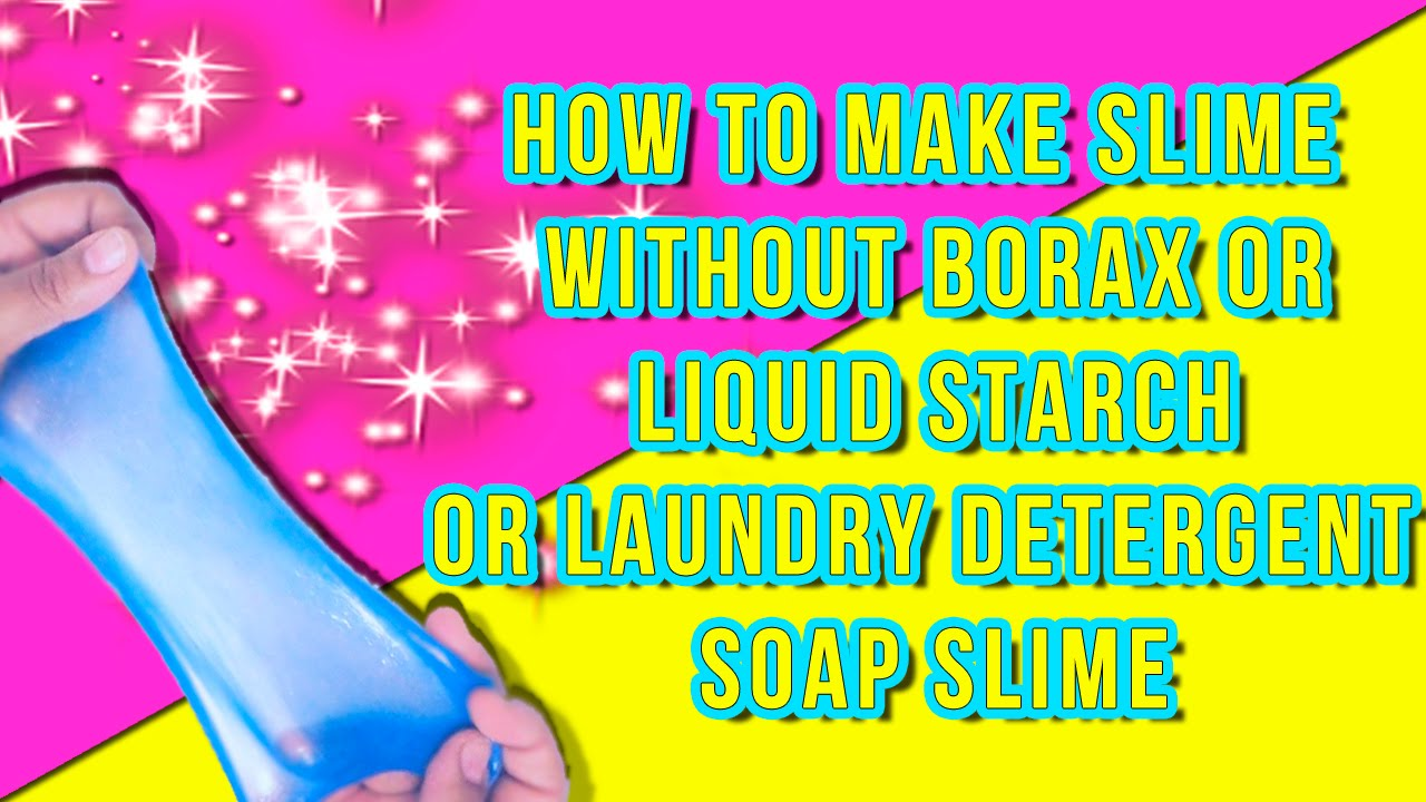Diy Fluffy Slime Using Eye Drops!! Make Perfect Slime Without Borax, Liquid  Starch Or Detergent!
