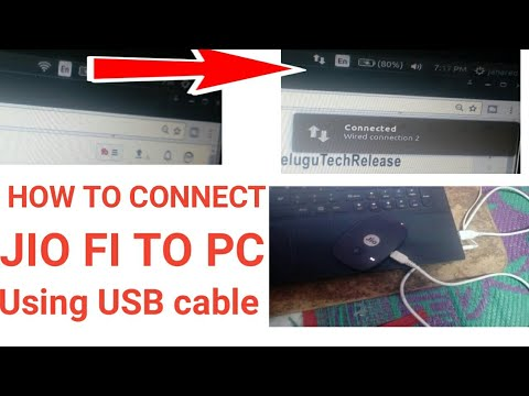 How to connect jio dongle to laptop using USB cable | jio fi 4g dongle  connect without wifi to pc