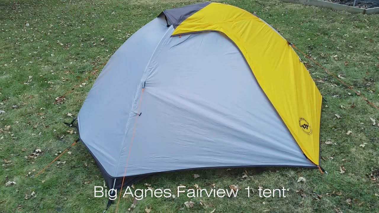 & Big Agnes Fairview 1 tent review - YouTube