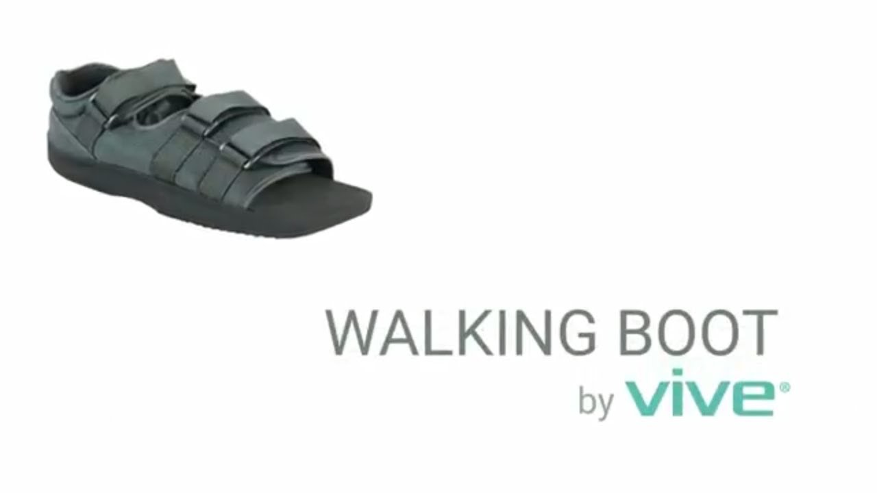 Walking Boot by Vive - Lightweight Post Op Shoe For Broken Foot, Cast,  After Surgery - Adjustable