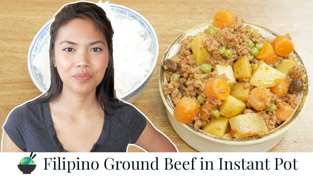 Filipino Picadillo Recipe in Instant Pot | Filipino Food