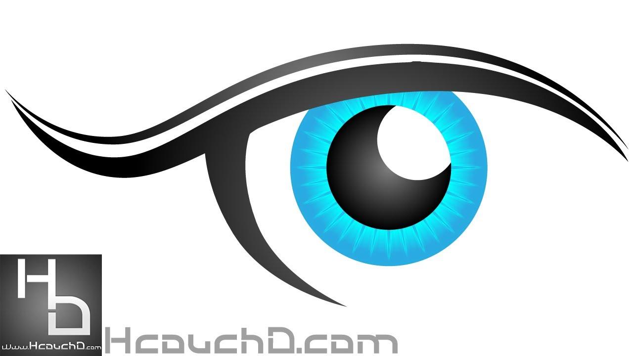 Tutorial 9 How To Draw Easy Eye Illustrator Vector File كيف ترسم