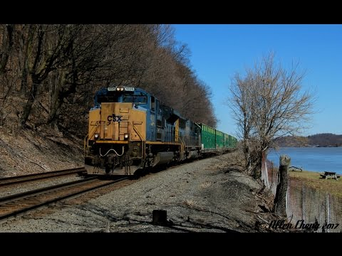 A Nice Day Trip On The Csx River Line 422017 Youtube