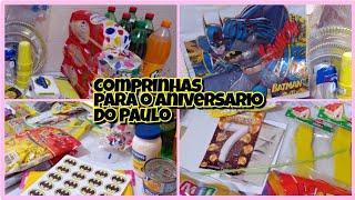 COMPRINHAS PARA O ANIVERSÁRIO DO PAULO|TEMA BATMAN