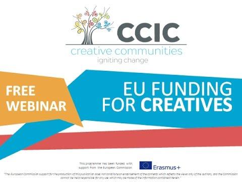 EU Funding for Creatives Webinar - www.creativecommunities.how