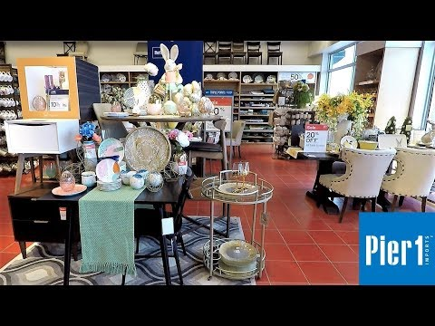 PIER 1 IMPORTS SPRING 2019 DECOR - HOME DECOR SHOP WITH ME SHOPPING STORE WALK THROUGH 4K